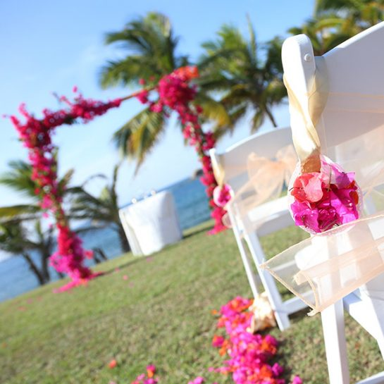 Ocean View Garden Wedding