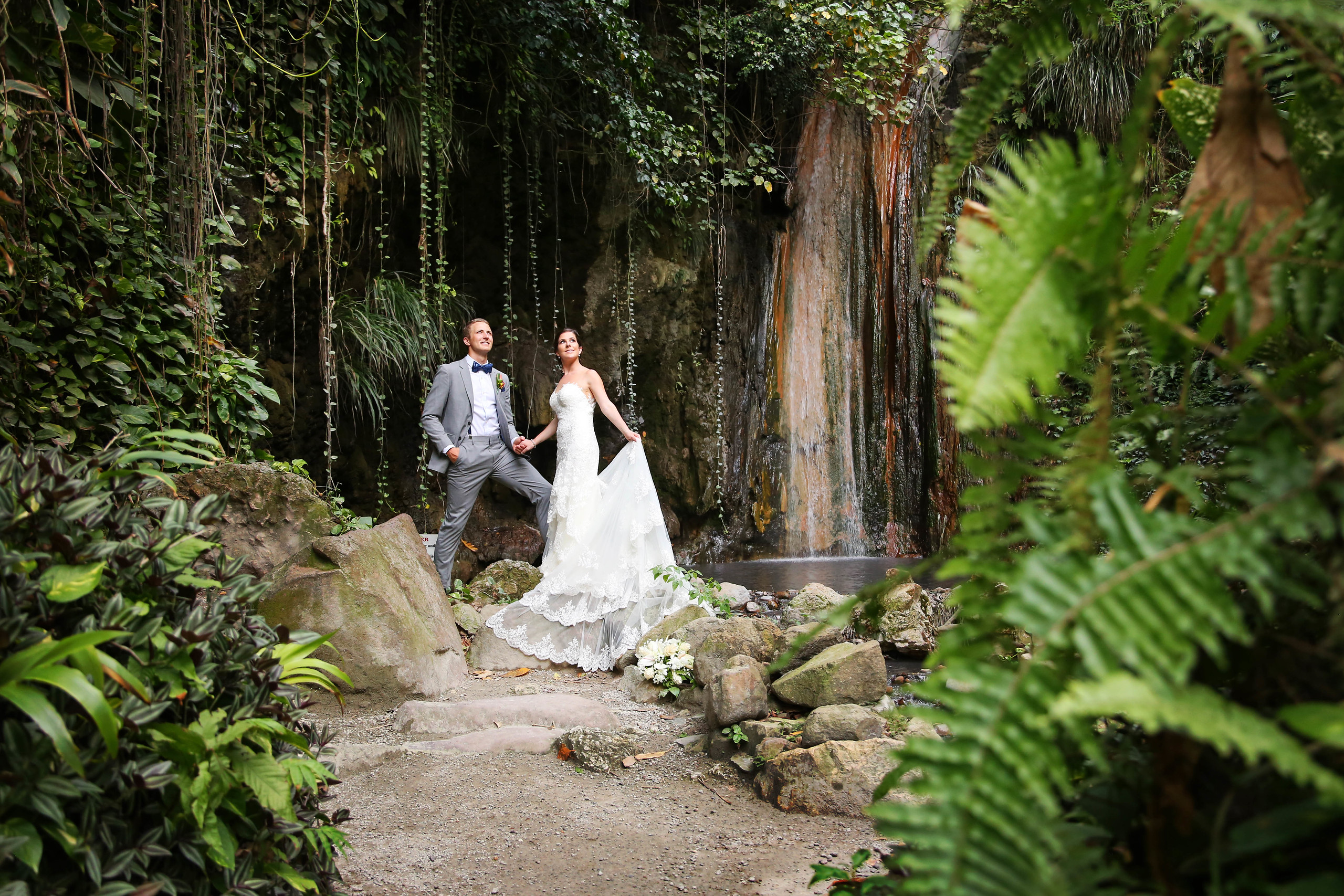 Waterfall Wedding   Awesome Caribbean Weddings