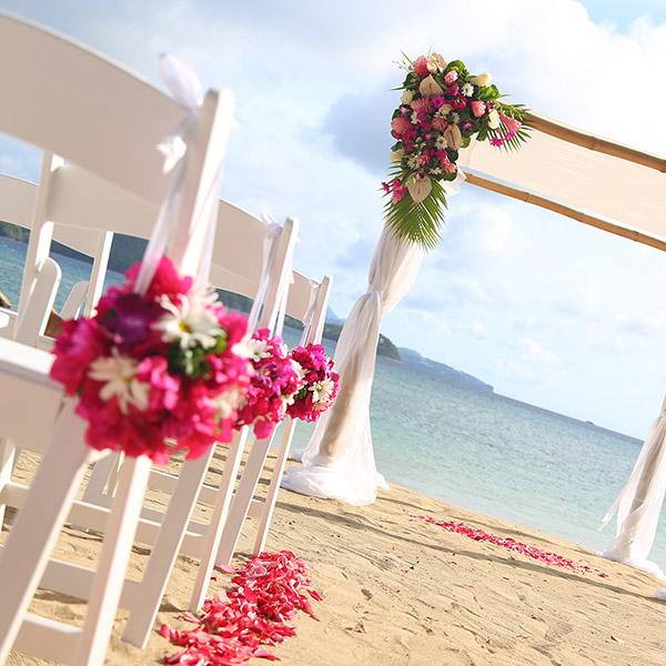 St Lucia Wedding Venues - Private Beach