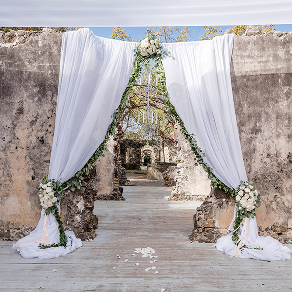 St Lucia Wedding Venues - Historical Ruins