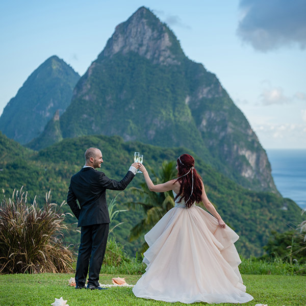 St Lucia Wedding Venues - Piton View