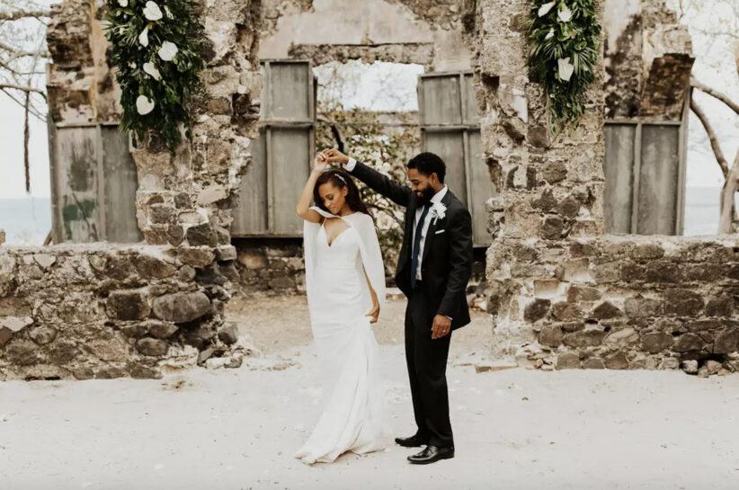Alix & Anwar's Pigeon Island Ceremony Is Featured Wedding On Brides.com